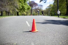 Orange cone Royalty Free Stock Photography