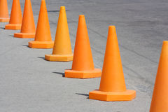 Orange cone Royalty Free Stock Photos
