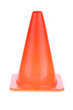 Orange cone used warning sign under construction work area Royalty Free Stock Photos