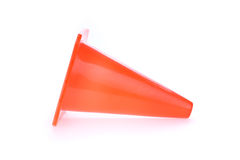 Orange cone used warning sign under construction work area Stock Photo