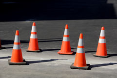 Orange Cones Royalty Free Stock Photo