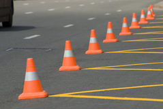 Orange cones Royalty Free Stock Photography