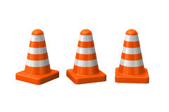 Orange cones Royalty Free Stock Image