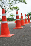 Orange cones. Royalty Free Stock Photography