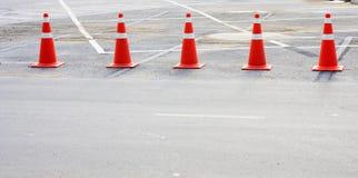 Orange cones Royalty Free Stock Photo