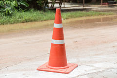 Orange cones Stock Photo