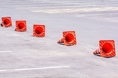 Orange cones Stock Photos