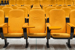 Orange conference armchairs Stock Photo