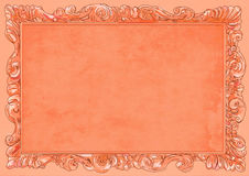 Orange conice for painting or postcard Vintage frame border retro. Conice for painting or postcard linework Black Conice for painting or postcard Vintage frame Royalty Free Stock Photos