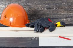 Orange Construction Helmet Royalty Free Stock Image