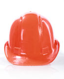 Orange construction helmet Royalty Free Stock Photography