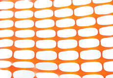 Orange construction site net Royalty Free Stock Photos