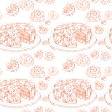 Orange contour of bake. pattern of confectionery Royalty Free Stock Photography