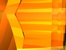 Orange contrast box 9 Stock Photography