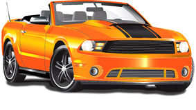 Orange Convertible. This illustration would be great for ads and any printed media. Very detailed convertible vector illustration