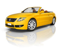 Orange Convertible 3D Sport Car Royalty Free Stock Image