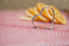 Orange and Cookie Cutter Royalty Free Stock Image