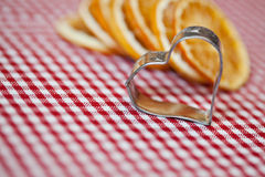 Orange and Cookie Cutter Stock Photography
