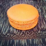 Orange macaron Royalty Free Stock Images