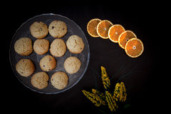 Orange Cookies With Chocolate Chips Stock Images