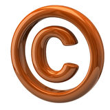 Orange copyright symbol Stock Photo