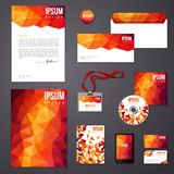Orange corporate identity template. Stock Photo