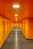 Orange corridor Royalty Free Stock Images
