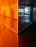 Orange corridor Royalty Free Stock Image