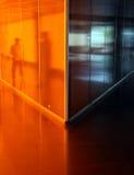 Orange corridor Royalty Free Stock Image