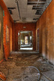Orange corridor. With dirt on the floor Royalty Free Stock Image