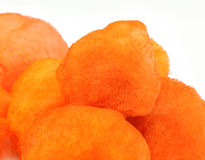 Orange cotton candy Royalty Free Stock Photos