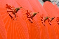 Orange Cotton Umbrellas In Thailand Royalty Free Stock Image