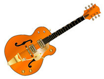 Orange Country and Western Guitar Royalty Free Stock Photography