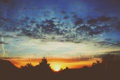 Orange countryside sunset Royalty Free Stock Photography