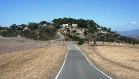 Orange County Bike Path. Bike path, hillside and panoramic view, Orange County, CA Royalty Free Stock Photography