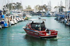 Orange County Harbor Partrol. Harbor Police on patrol in Dana Point Stock Images
