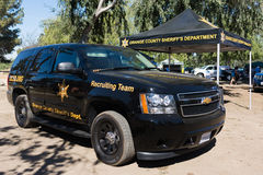 Orange County Sheriff during vehicle Los Angeles American Heroes Stock Photo