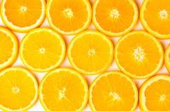 Orange coupée en tranches Photos libres de droits