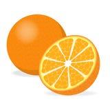 Orange coupée en tranches Image libre de droits