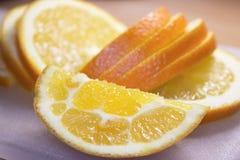 Orange coupée en tranches Image stock