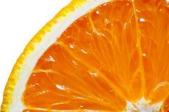 Orange coupée en tranches d'isolement sur le blanc photographie stock libre de droits