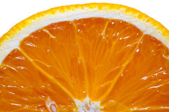 Orange coupée en tranches d'isolement sur le blanc Photos stock