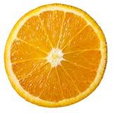 Orange coupée en tranches d'isolement sur le fond blanc Image libre de droits