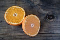 Orange coupée en tranches fraîche images libres de droits