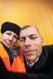 Orange couple Stock Image