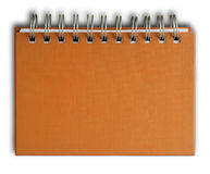 Orange cover Note Book. The orange cover of Note book Horizontal Royalty Free Stock Images