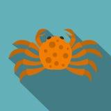 Orange crab icon, flat style Royalty Free Stock Image
