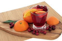Orange and Cranberry Health Drink Royalty Free Stock Images