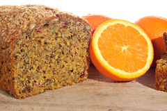 Orange cranberry loaf Royalty Free Stock Photos
