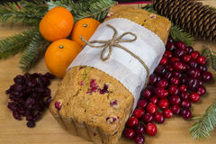 Orange cranberry loaf cake Stock Photos